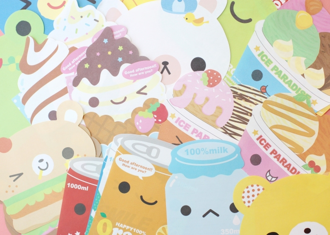 kawaii memo sheet die-cuts.